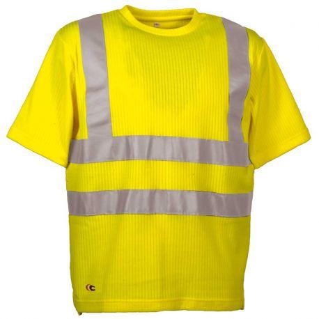 polo-manches-courtes-jaune-cofra-alert